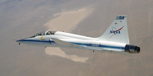 A T-38 Talon during a mission support flight.