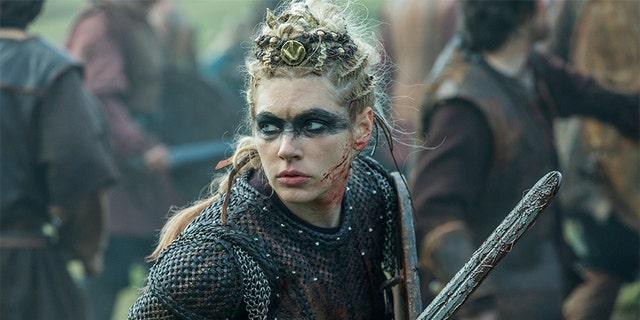 Katheryn Winnick as Lagertha. — History Channel