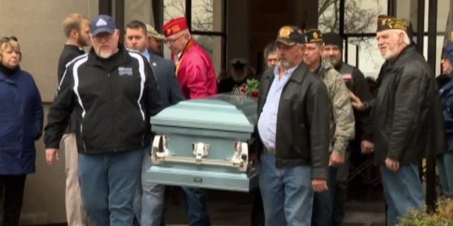 Hundreds came to pay their respects for Leo Stokley, 69, of Murfreesboro, Tenn.. Stokley was a Marine Corps veteran who died and had no family members to attend his funeral.