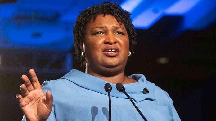 Stacey Abrams visits Hollywood to urge against boycott over Georgia's 'heartbeat' abortion law