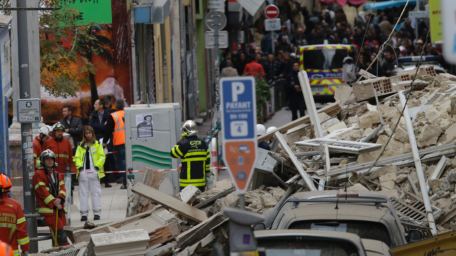 Building collapses in Marseille, no word on casualties