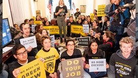 More than 130 arrested at Pelosi's Capitol Hill office amid environmental-activist demonstration