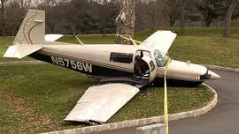Small plane crash-lands at New Jersey golf course; passengers suffer no serious injuries