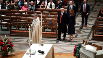 The Latest: Trumps attend services at National Cathedral