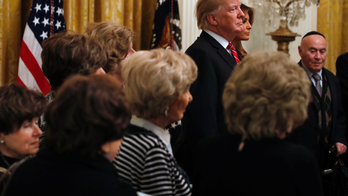 Trump celebrates Hanukkah with 8 Holocaust survivors