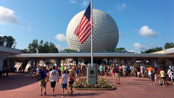 Buzzy, a retired robot at Disney World, has hands and clothing stolen