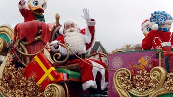 Disneyland float collapse launches Santa off sled during parade