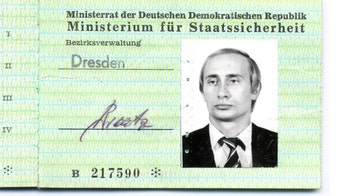 Vladimir Putin's East Germany Stasi secret police ID card uncovered in archives