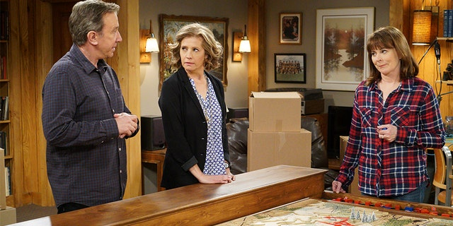 "Patricia Richardson (right) alongside Nancy Travis and Tim Allen on ""Last Man Standing."" — Getty"