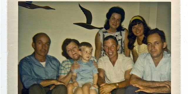 Bettie Page (upper right) with her family in 1970.