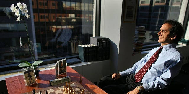 Charles Krauthammer in his office in 2005.