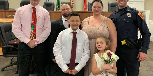 "Joseph DeMichele and Feliece Terwillinger ""showed their appreciation by inviting Officer Matthews to be an official witness to their marriage and to sign their marriage certificate."""