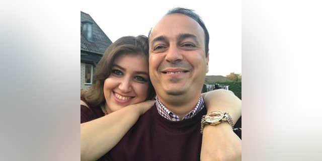 Firas Jumaah with his wife.
