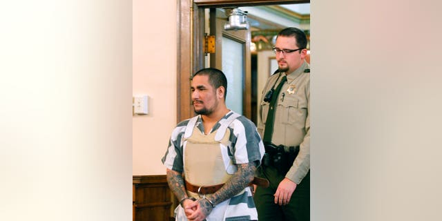 Zachary Paul Koehn enters the courtroom for sentencing in Waterloo, Iowa.