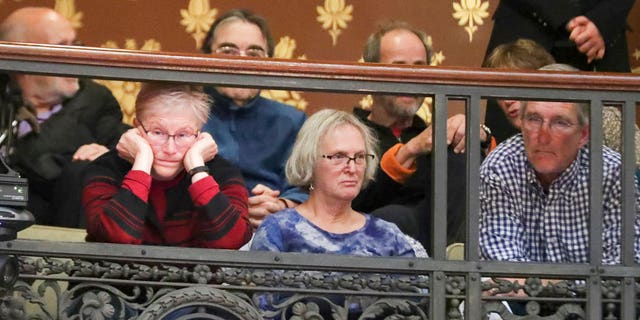 Attendees sit in the gallery and listen during a special session of the senate, Tuesday Dec. 4, 2018, at the Capitol in Madison, Wis. (Steve Apps/Wisconsin State Journal via AP)