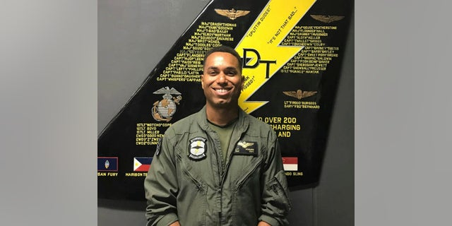 This undated photo made available by the U.S. Marine Corps shows Capt. Jahmar F. Resilard. On Thursday, Dec. 6, 2018, officials said he was killed in a plane crash off the coast of Japan. (U.S. Marine Corps via AP)