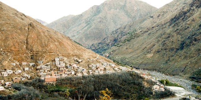 The remote village of Imlil nestled on the slopes of the Atlas mountains in Morocco on Dec. 20, 2018, about six miles from the spot where the bodies of two Scandinavian women were found.