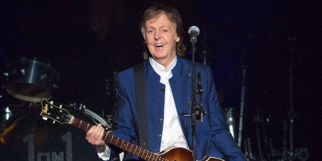 Sir Paul McCartney performs at Amalie Arena in Tampa, Fla.