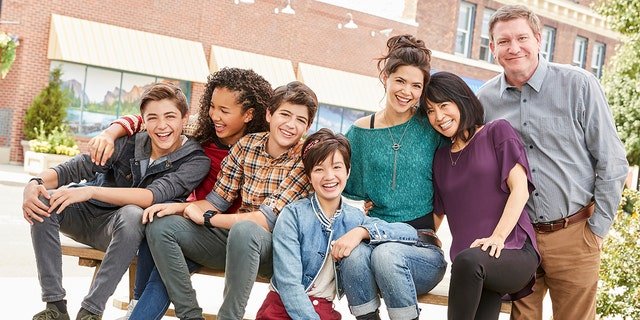 """""""Andi Mack,"""" star Stoney Westmoreland (right) was arrested and fired from his recurring role on the show. In a statement, Disney said that the many underage cast members played a factor in his removal."""