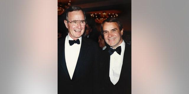 Rich Little and George H.W. Bush.