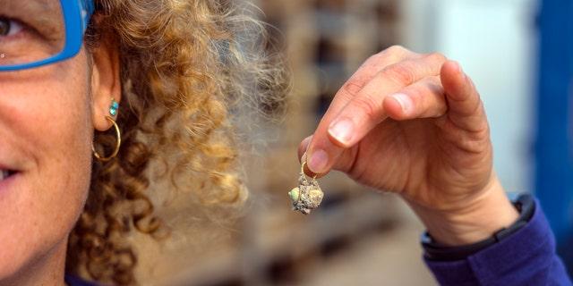 The Gold earring detected during Caesarea. (Photo: Yaniv Berman, pleasantness of a Caesarea Development Corporation)