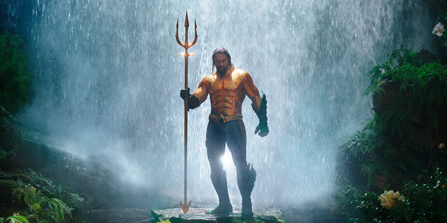 Jason Momoa in a scene from 'Aquaman.'