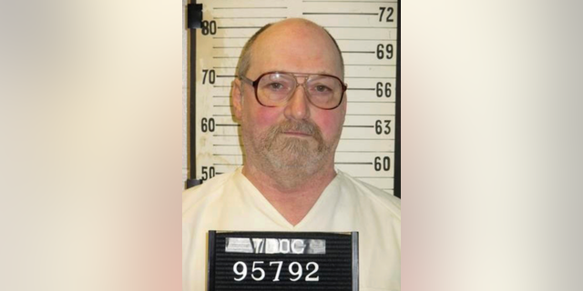 This undated photo provided by the Tennessee Department of Correction shows death row inmate David Earl Miller in Nashville, Tenn. Miller, 61, has been moved to the state's death watch ahead of his scheduled execution Thursday, Dec. 2018. Miller, who has been on death row for 36 years, was sentenced to death for the 1981 murder of 23-year-old Lee Standifer in Knoxville. (Tennessee Department of Correction via AP)
