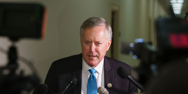 Meadows went on to mock the impeachment hearing in a confrontation picked up by C-SPAN3. (AP Photo/Carolyn Kaster)
