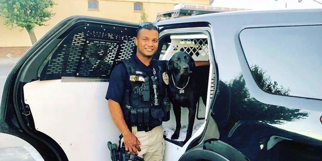 This undated photo of the Newman Police Department shows Officer Ronil Singh of the Newman Police Department who was killed.