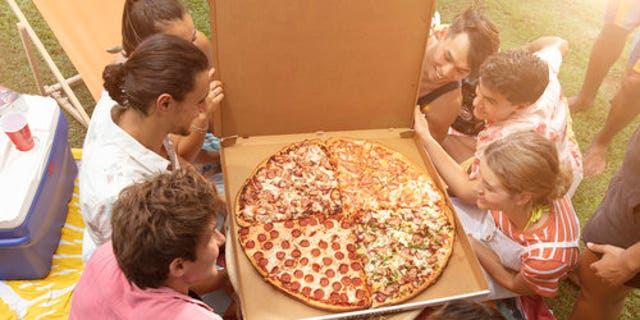 """Each quarter of The Big One is roughly the size of """"two large pizzas,"""" according to the chain."""