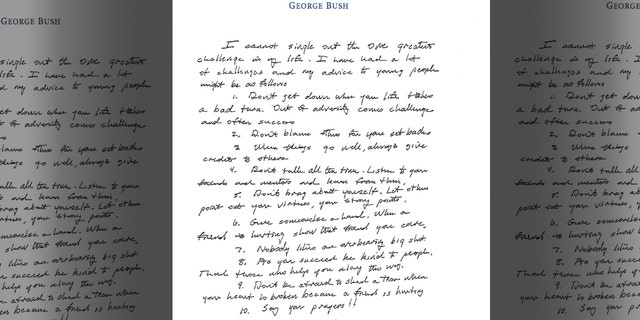 Bret Baier George H W Bush And A Letter To Live By Fox News