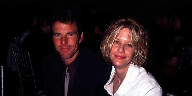Dennis Quaid and Meg Ryan are pictured here in February 2000. Quaid spoke to Fox News about his first-ever splurge for the holidays.