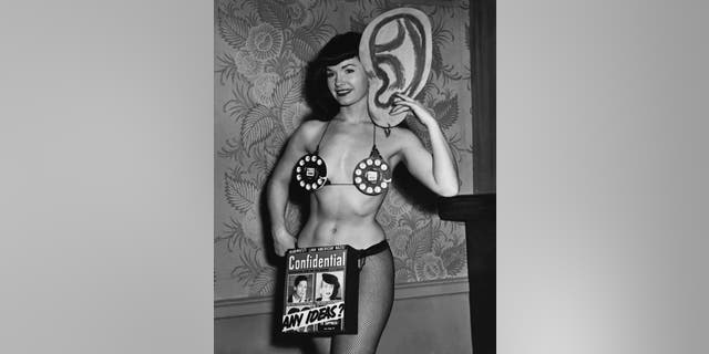 Bettie Page for Confidential Advertising.