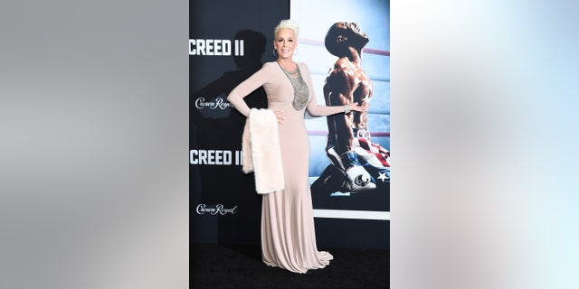 "Brigitte Nielsen attends the ""Creed II"" New York Premiere at AMC Loews Lincoln Square on Nov. 14, 2018 in New York City."