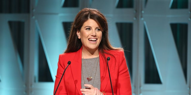 Monica Lewinsky speaks onstage during The Hollywood Reporter's Power 100 Women In Entertainment at Milk Studios on Wednesday in Los Angeles.