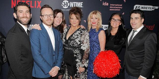 Jason Goldman, Galen Summer, Molly Thompson, Jackie Rohrs, Rhonda Crossland, Lynita Stuart, Van Beneden and Jeremy Yaches of Sidelined' attend a 2018 IDA Documentary Awards on Dec 8, 2018 in Los Angeles, California. — Getty