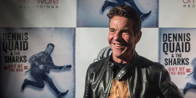 "Dennis Quaid arrives at the ""Dennis Quaid and The Sharks"" Album Release Party at The Village on December 04, 2018 in Los Angeles, Calif. The ""Parent Trap"" alum spoke to Fox News about his first-ever record, and why he's been candid about his personal life."