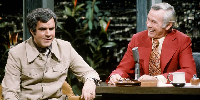 Rich Little with Johnny Carson. — Getty