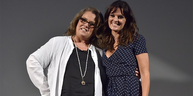 "Actors Rosie O'Donnell (L) and Frankie Shaw of ""SMILF"" speak onstage at the Showtime portion of the 2017 Summer Television Critics Association Press Tour on August 7, 2017 in Los Angeles, California. — Getty"