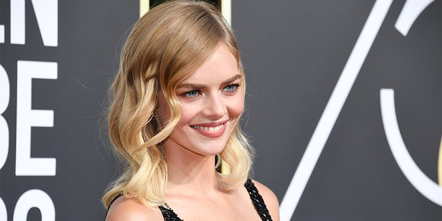 Actress Samara Weaving arrives to the 75th Annual Golden Globe Awards held at the Beverly Hilton Hotel on Jan. 7, 2018.