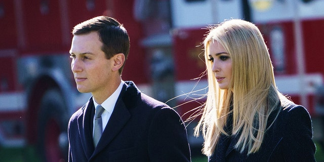 Jared Kushner and Ivanka Trump make their way to board Marine One before departing from South Lawn of the White House in Washington, DC on October 30, 2018. (Photo by MANDEL NGAN / AFP) (Photo credit should read MANDEL NGAN/AFP/Getty Images)