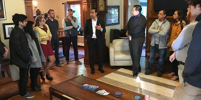 Julian Castro during a visit to Nashua, N.H.