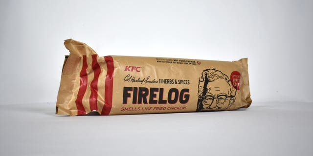 """""""Now, this winter we're bringing all the things we love – family, friends and fried chicken – together around the fire with our scented firelog,"""