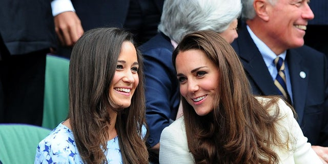 The Duchess of Cambridge and Pippa Middleton (left) at the 2012 Wimbledon Championships.