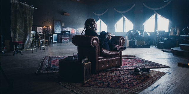 "Brian Welch during a filming of ""Loud Krazy Love."""