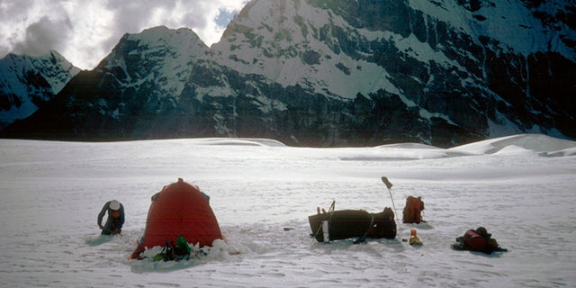 The empty tent belonged to the missing climbers.