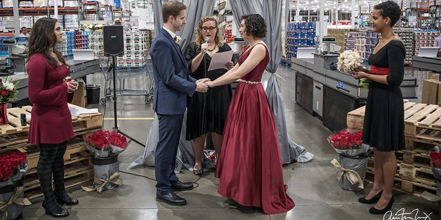 """We have so much in common, but Costco is the first thing,"" the bride said."