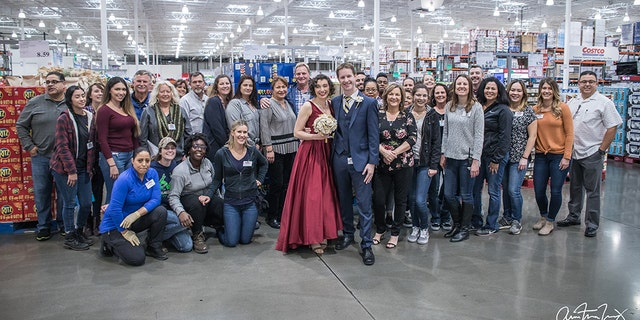 "Looking back, the bride says that the wedding day ""was perfect from start to finish,"" thanks to the help of the generous Costco staffers."