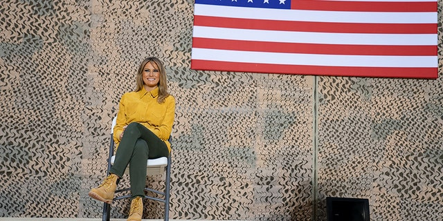 Melania Trump visited troops in Iraq alongside President Trump. (White House)
