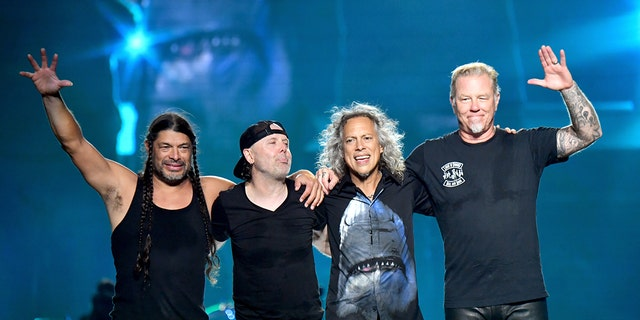 From left, Robert Trujillo, Lars Ulrich, Kirk Hammett, and James Hetfield of Metallica.